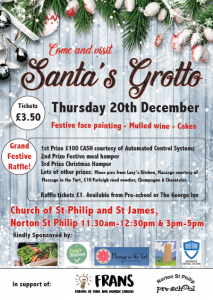 FRANS and Norton St Philip Pre-School - Santa's Grotto @ Church of St Philip and St James