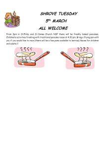 Shrove Tuesday - Pancakes at the Church @ St Philip and St James Church, Norton St Philip
