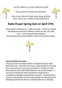 Rode Chapel Spring Sale