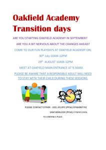 Oakfield Academy Transition Fun Day